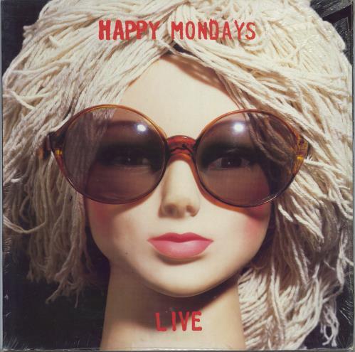 Happy Mondays Live - Sealed 2-LP vinyl record set (Double Album) UK HAP2LLI775352