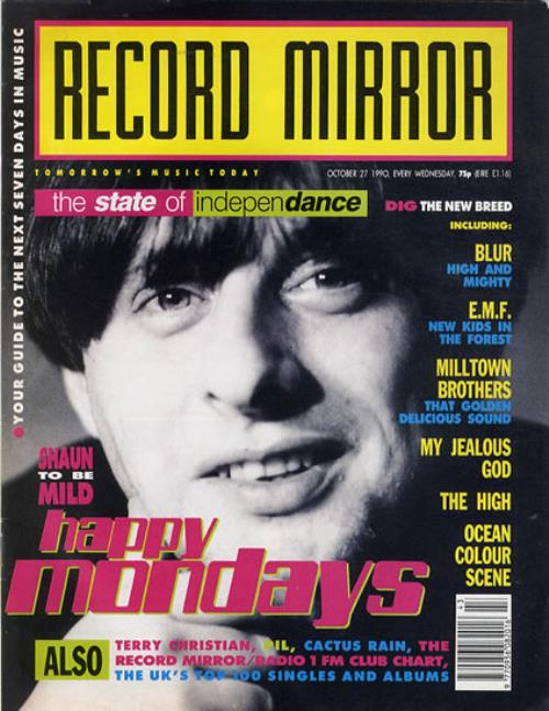 Happy Mondays Record Mirror magazine UK HAPMARE607994