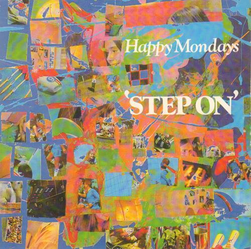 "Happy Mondays Step On 7"" vinyl single (7 inch record) UK HAP07ST177599"