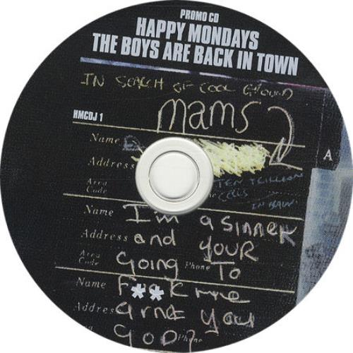"Happy Mondays The Boys Are Back In Town CD single (CD5 / 5"") UK HAPC5TH137476"