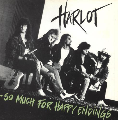 "Harlot So Much For Happy Endings 7"" vinyl single (7 inch record) Danish Q8407SO745793"