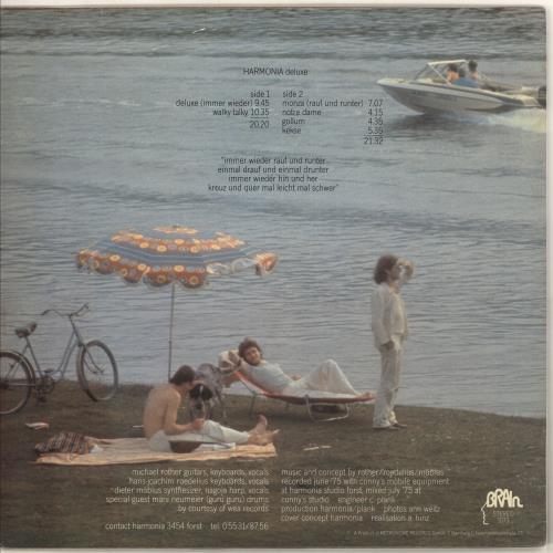 Harmonia Deluxe - 1st vinyl LP album (LP record) German HC3LPDE725618