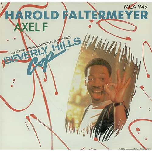 "Harold Faltermeyer Axel F + Sleeve 7"" vinyl single (7 inch record) UK HFL07AX408805"