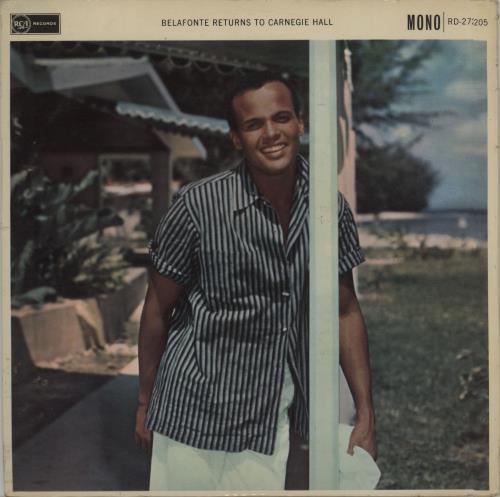 Harry Belafonte Belafonte Returns To Carnegie Hall vinyl LP album (LP record) UK BFNLPBE676674