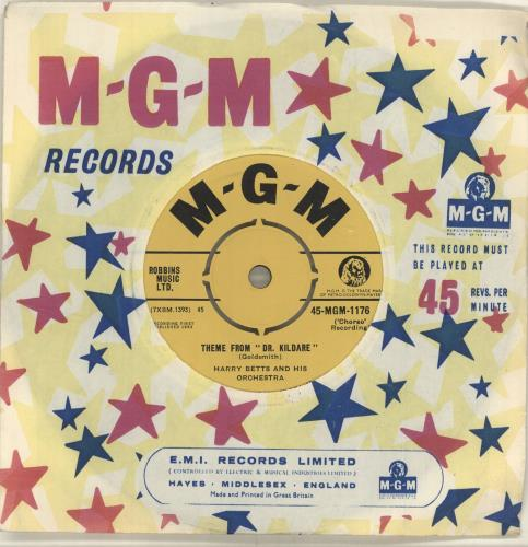 "Harry Betts Theme From 'Dr. Kildare' 7"" vinyl single (7 inch record) UK HF907TH698427"