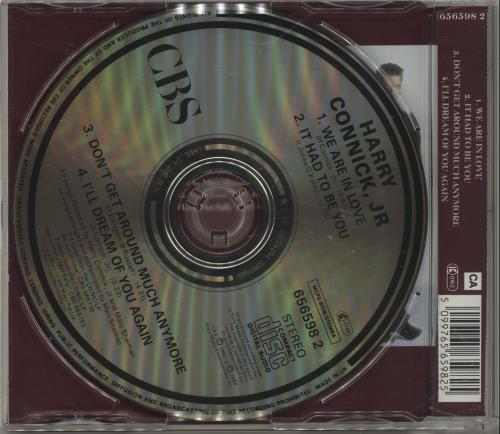 """Harry Connick, Jr. We Are In Love CD single (CD5 / 5"""") UK HCJC5WE79861"""