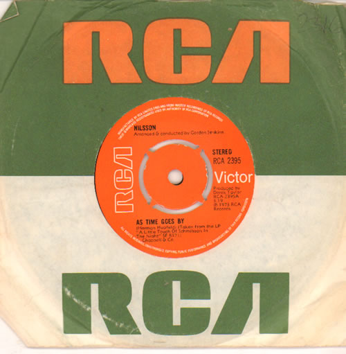 """Harry Nilsson As Time Goes By 7"""" vinyl single (7 inch record) UK HNL07AS493347"""