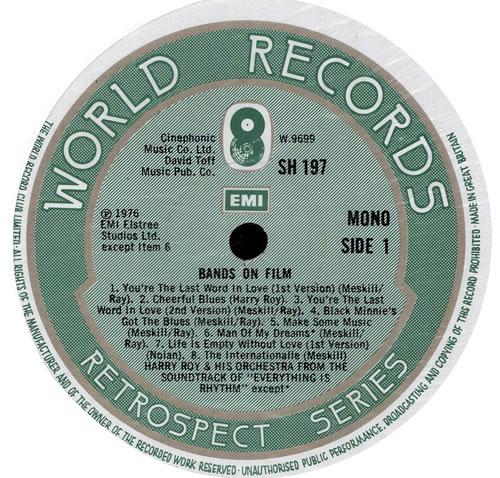 Harry Roy Bands Of Film vinyl LP album (LP record) UK HR-LPBA569851