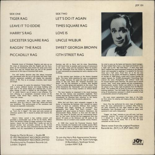 Harry Roy Raggin' The Rags vinyl LP album (LP record) UK HR-LPRA766598