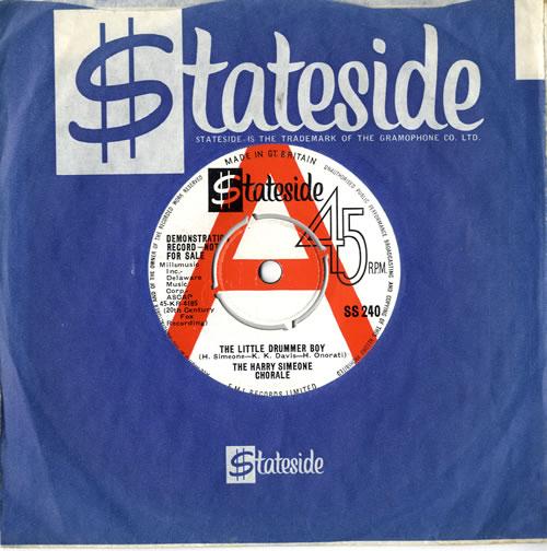 "Harry Simeone The Little Drummer Boy 7"" vinyl single (7 inch record) UK HQU07TH577297"
