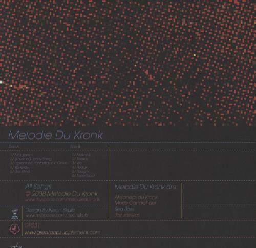Harry Sumnall Melodie Du Kronk - Numbered vinyl LP album (LP record) UK 1X3LPME750956