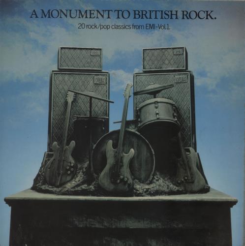 Harvest Label A Monument To British Rock - EX vinyl LP album (LP record) UK HRVLPAM393360
