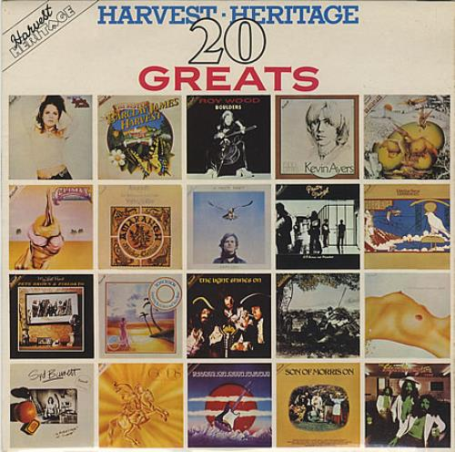 Harvest Label Harvest Heritage 20 Greats vinyl LP album (LP record) UK HRVLPHA392105