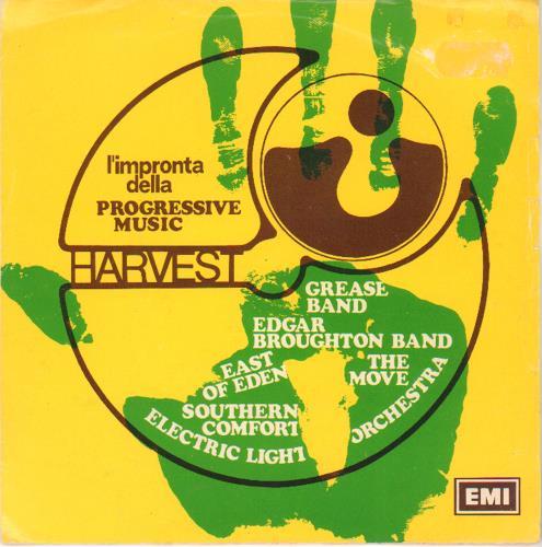 "Harvest Label L'Impronta Della Progressive Music 7"" vinyl single (7 inch record) Italian HRV07LI676516"