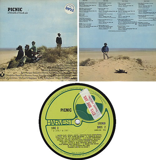 Harvest Label Picnic - Sample Stickered 2-LP vinyl record set (Double Album) UK HRV2LPI307316