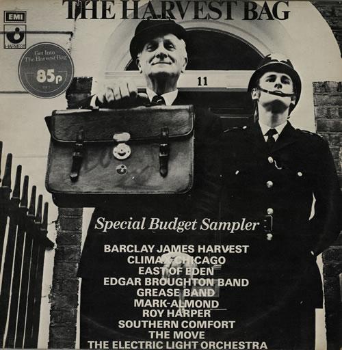 Harvest Label The Harvest Bag - Stickered vinyl LP album (LP record) UK HRVLPTH568240