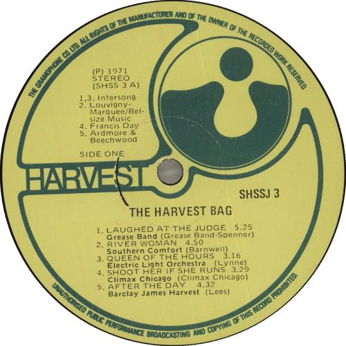Harvest Label The Harvest Bag vinyl LP album (LP record) South African HRVLPTH715760