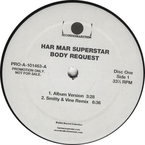 "Har Mar Superstar Body Request - Double Vinyl 12"" vinyl single (12 inch record / Maxi-single) US HMA12BO323438"