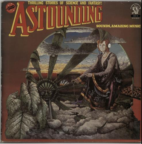 Hawkwind Astounding Sounds, Amazing Music vinyl LP album (LP record) UK HWKLPAS518573