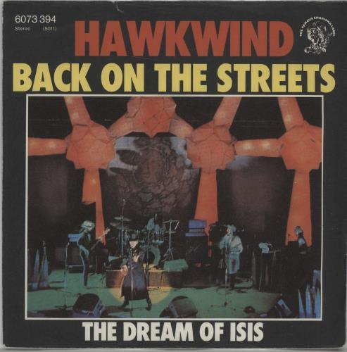 "Hawkwind Back On The Streets 7"" vinyl single (7 inch record) German HWK07BA665727"