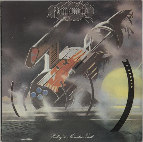 Hawkwind Hall Of The Mountain Grill - EX vinyl LP album (LP record) UK HWKLPHA667208