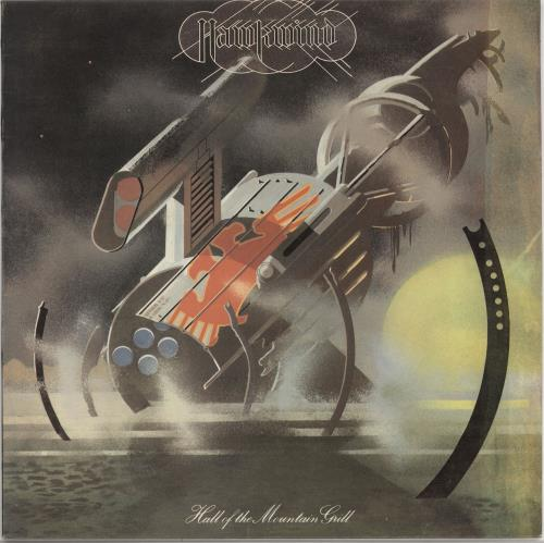 Hawkwind Hall Of The Mountain Grill - Matt + Inner - Yellow Label vinyl LP album (LP record) UK HWKLPHA722119