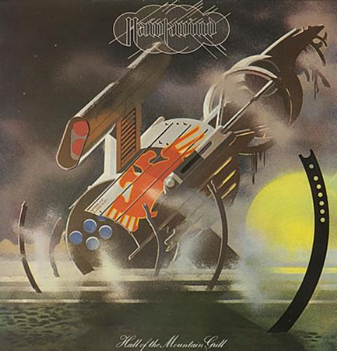 Hawkwind Hall Of The Mountain Grill vinyl LP album (LP record) UK HWKLPHA372089