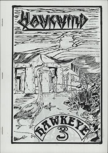 Hawkwind Hawkeye 3 fanzine UK HWKFAHA669328