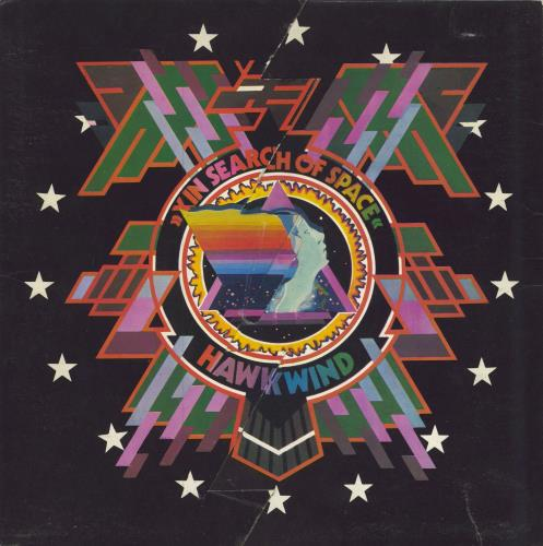Hawkwind In Search Of Space - 1st + Booklet - EX vinyl LP album (LP record) UK HWKLPIN567604