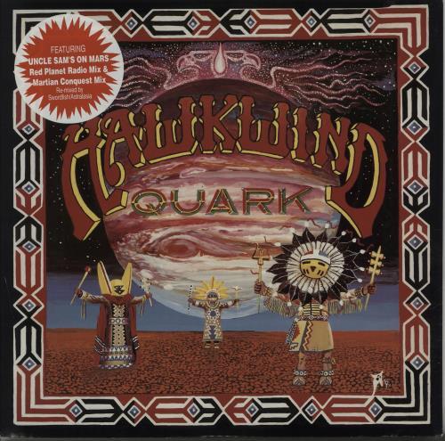 "Hawkwind Quark, Strangeness And Charm EP 12"" vinyl single (12 inch record / Maxi-single) UK HWK12QU665496"