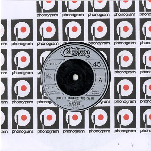 "Hawkwind Quark, Strangeness And Charm 7"" vinyl single (7 inch record) UK HWK07QU603989"
