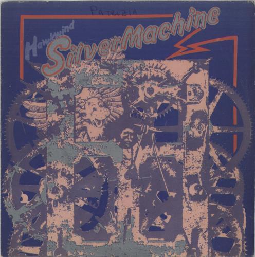 "Hawkwind Silver Machine 7"" vinyl single (7 inch record) Italian HWK07SI665725"