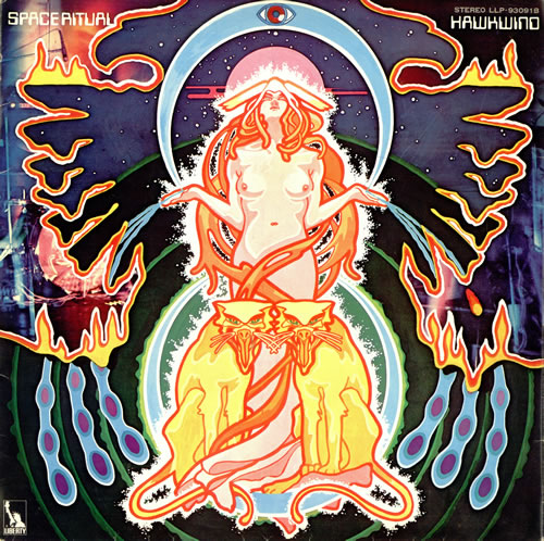 Hawkwind Space Ritual + Booklet 2-LP vinyl record set (Double Album) Japanese HWK2LSP489286