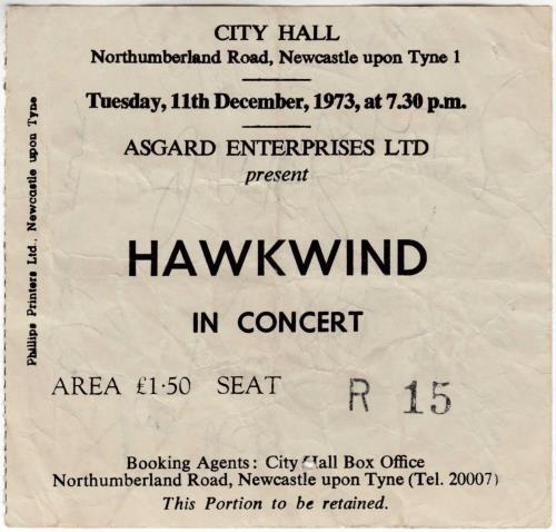 Hawkwind Space Ritual + Signed Ticket Stub tour programme UK HWKTRSP716141