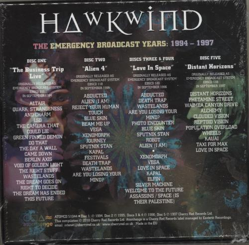 Hawkwind The Emergency Broadcast Years 1994-1997 - Sealed CD Album Box Set UK HWKDXTH695803