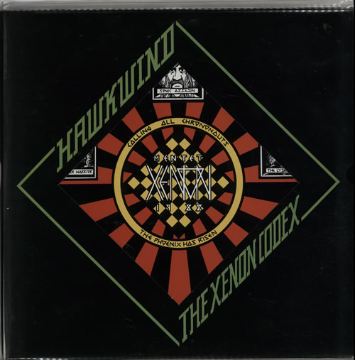 Hawkwind The Xenon Codex - Foldout picture sleeve vinyl LP album (LP record) UK HWKLPTH64327
