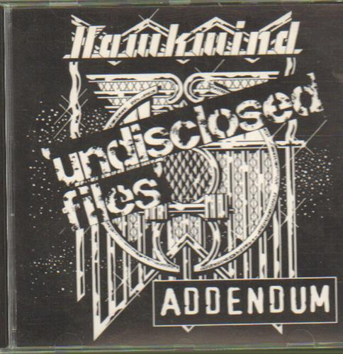 Hawkwind Undisclosed Files - Addendum CD album (CDLP) UK HWKCDUN665643