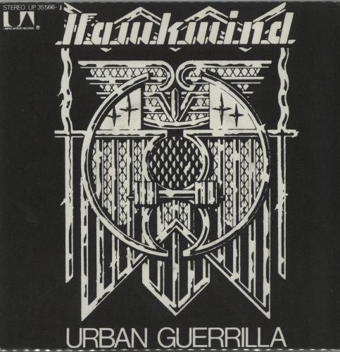 """Hawkwind Urban Guerrilla 7"""" vinyl single (7 inch record) French HWK07UR647694"""