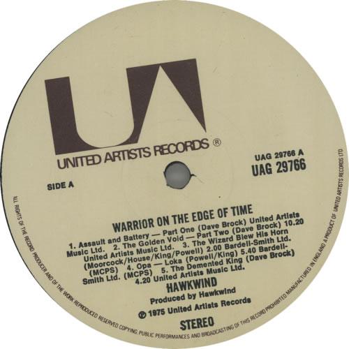 Hawkwind Warrior On The Edge Of Time - 1st - EX vinyl LP album (LP record) UK HWKLPWA197383