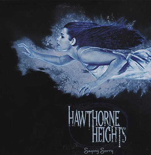 "Hawthorne Heights Saying Sorry - Pink Vinyl 7"" vinyl single (7 inch record) UK HHE07SA401623"
