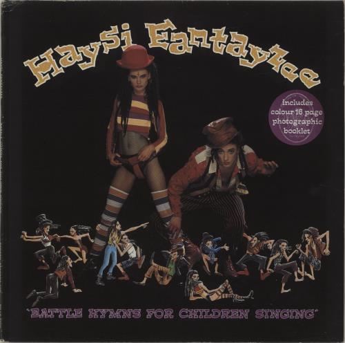 Haysi Fantayzee Battle Hymns + Photo Booklet vinyl LP album (LP record) UK HSILPBA32789
