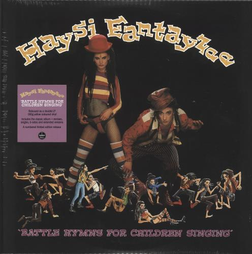 Haysi Fantayzee Battle Hymns For Children Singing - 180gm Yellow Vinyl + Numbered - Sealed 2-LP vinyl record set (Double Album) UK HSI2LBA702485