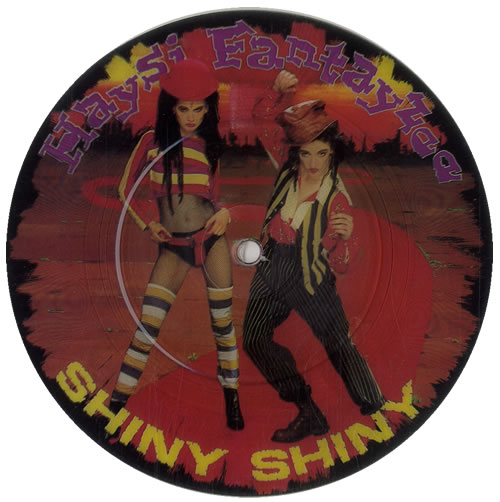 "Haysi Fantayzee Shiny Shiny 7"" vinyl picture disc 7 inch picture disc single UK HSI7PSH39635"
