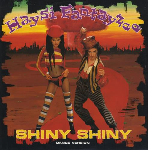 """Haysi Fantayzee Shiny Shiny 12"""" vinyl single (12 inch record / Maxi-single) UK HSI12SH58724"""