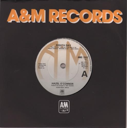 "Hazel O'Connor Eighth Day 7"" vinyl single (7 inch record) UK OCN07EI550700"