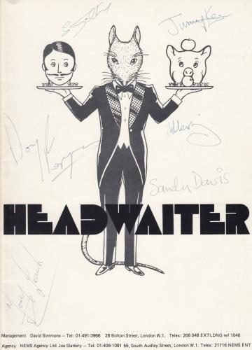 Headwaiter Headwaiter - Autographed media press pack UK IK8PPHE657760