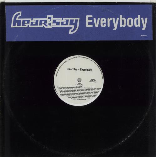 "Hear'say Everybody 12"" vinyl single (12 inch record / Maxi-single) UK HSY12EV201246"