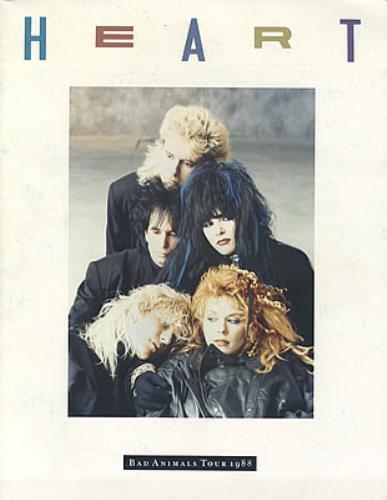 Heart Bad Animals Tour 1988 Uk Tour Programme 106694