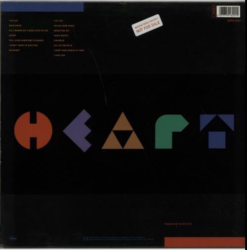 Heart Brigade - Promo Stickered vinyl LP album (LP record) UK HEALPBR612527