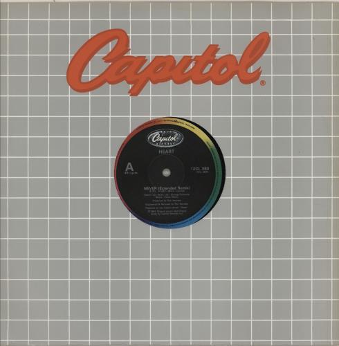"""Heart Never 12"""" vinyl single (12 inch record / Maxi-single) UK HEA12NE277504"""